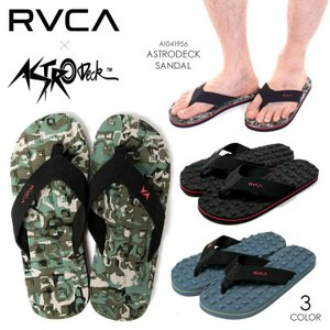 RVCA ビーチサンダル メンズ ASTRODECK SANDAL AI041-956 2018春 ブラック/ブルー/グリーン 25cm/26cm/27cm/28cm|3direct