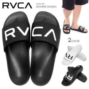 RVCA シャワーサンダル メンズ SHOWER SANDAL AI041-957 2018春 ブラック/ホワイト 26cm/27cm/28cm/29cm 【evi】|3direct
