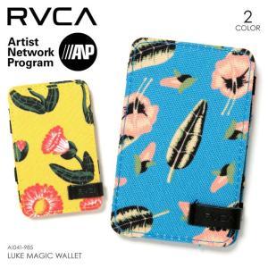 RVCA ウォレット メンズ LUKE MAGIC WALLET 2018春 AI041-985 ブルー/イエロー ワンサイズ|3direct