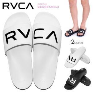 RVCA レディース ビーチサンダル SHOWER SANDAL AI043-955 2018春 ブラック/ホワイト 23cm/24cm|3direct