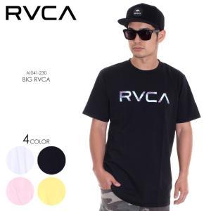 RVCA Tシャツ メンズ BIG RVCA AI041-230 2018春夏 ホワイト/ブラック/ピンク/イエロー S/M/L|3direct