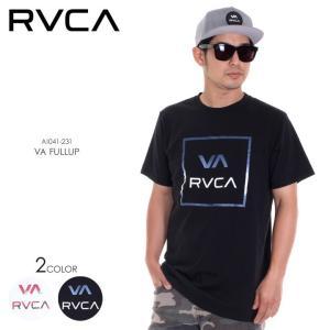 RVCA Tシャツ メンズ VA FULLUP AI041-231 2018春夏 ホワイト/ブラック S/M/L|3direct