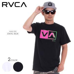 RVCA Tシャツ メンズ STATIC BOX AI041-233 2018春夏 ホワイト/ブラック S/M/L|3direct