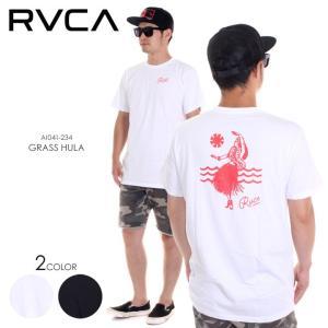 RVCA Tシャツ メンズ GRASS HULA AI041-234 2018春夏 ホワイト/ブラック S/M/L|3direct