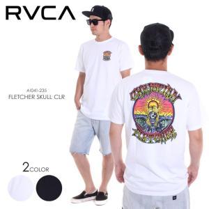 RVCA Tシャツ メンズ FLETCHER SKULL CLR AI041-235 2018春夏 ブラック/ホワイト S/M/L|3direct