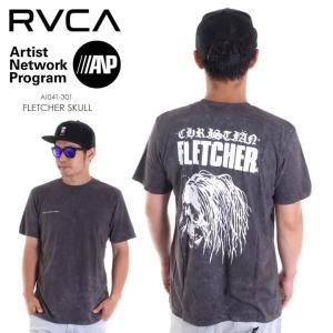 RVCA Tシャツ メンズ FLETCHER SKULL AI041-301 2018春夏 ブラック S/M/L|3direct