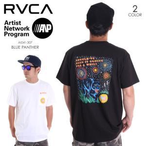 RVCA Tシャツ メンズ BLUE PANTHER AI041-307 2018春夏 ブラック/ホワイト S/M/L|3direct