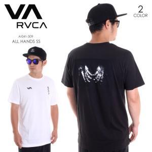 RVCA Tシャツ メンズ ALL HANDS S/S AI041-309 2018春夏 ブラック/ホワイト S/M/L|3direct