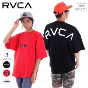 RVCA Tシャツ メンズ ARCH RVCA S/S AI041-310 2018春夏 ブラック/レッド/ホワイト S/M/L|3direct
