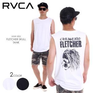 RVCA タンクトップ メンズ FLETCHER SKULL TANK AI041-355 2018春夏 ホワイト/ブラック S/M/L|3direct