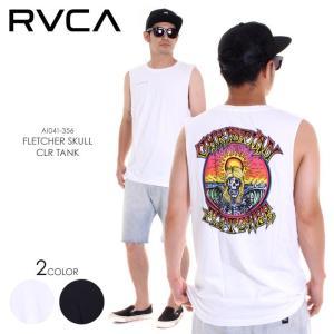 RVCA タンクトップ メンズ FLETCHER SKULL CLR TANK AI041-356 2018春夏 ホワイト/ブラック S/M/L|3direct