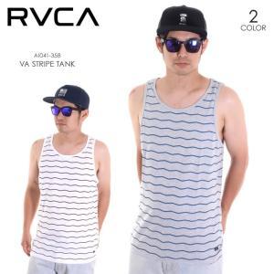 RVCA タンクトップ メンズ VA STRIPE TANK AI041-358 2018春夏 グレー/ホワイト S/M/L|3direct