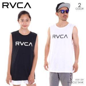 RVCA タンクトップ メンズ BIG RVCA MUSCLE TANK AI041-359 2018夏 ホワイト/ブラック S/M/L|3direct