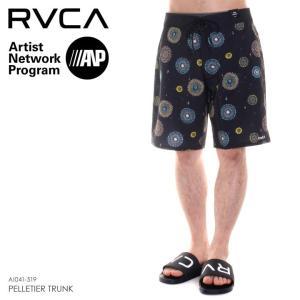 RVCA サーフパンツ メンズ PELLETIER TRUNK AI041-519 2018春夏 ブラック 28/30/32/34|3direct