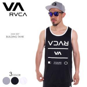 RVCA ラッシュガード メンズ BUILDING TANK AI041-857 2018春夏 ブラック/ホワイト/グレー S/M/L 3direct