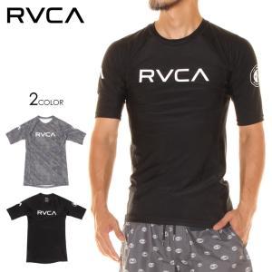 RVCA ラッシュガード メンズ RVCA S/S RASHGUARD AI041-858 2018春夏 ブラック/グレー S/M/L/XL|3direct
