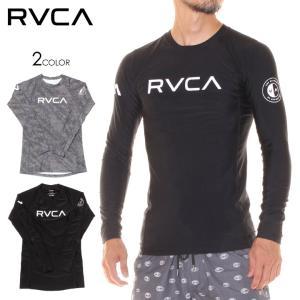 RVCA ラッシュガード メンズ RVCA L/S RASHGUARD AI041-859 2018春夏 ブラック/グレー S/M/L/XL 3direct