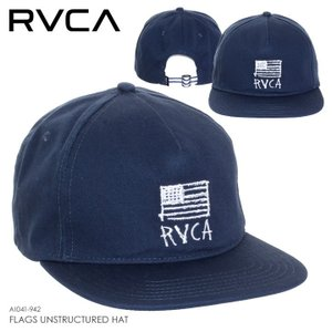 RVCA キャップ メンズ FLAGS UNSTRUCTURED HAT AI041-942 2018春夏 グリーン ワンサイズ|3direct