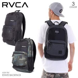 RVCA リュック メンズ ESTATE BACKPACK AI041-961 2018春夏 ブラック/グリーン/グレー 17L|3direct
