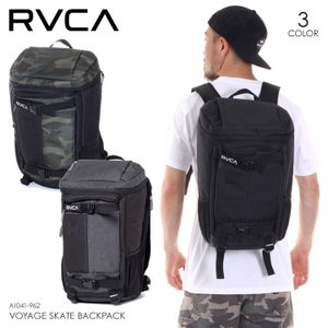 RVCA リュック メンズ VOYAGE SKATE BACKPACK AI041-962 2018春夏 ブラック/グリーン/グレー 16L|3direct