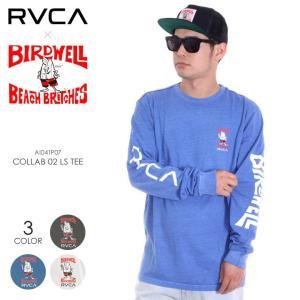 RVCA x BIRDWELL ロンT メンズ COLLAB 02 L/S TEE AI041-P07 2018夏 ブラック/ブルー/ホワイト S/M/L|3direct