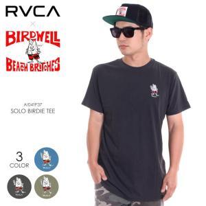 RVCA x BIRDWELL Tシャツ メンズ SOLO BIRDIE TEE AI041-P37 2018夏 ブラック/オリーブ/ブルー S/M/L|3direct