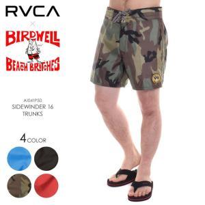 RVCA x BIRDWELL サーフパンツ メンズ SIDEWINDER 16 TRUNKS AI041-P50 2018夏 ブラック/カモ/レッド/ブルー 28/30/32/34|3direct