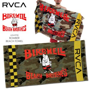 RVCA x BIRDWELL タオル メンズ BOMBER BEACH TOWEL AI041-P98 2018年夏 カモ ワンサイズ|3direct