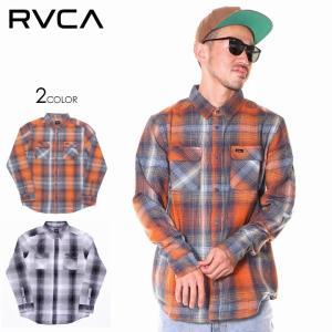 SALE セール RVCA ルーカ シャツ メンズ MUIR PLAID LONG SLEEVE FLANNEL|3direct