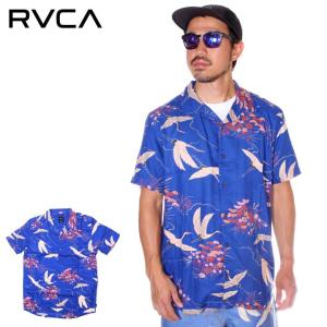 SALE セール RVCA ルーカ シャツ メンズ BLUE CRANE SS 2019年春夏|3direct