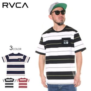 SALE セール RVCA ルーカ Tシャツ メンズ WIDE STRIPE SS 2020春夏|3direct