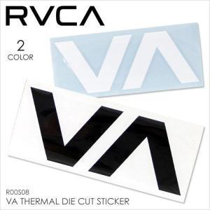 ステッカー RVCA VA THERMAL DIE CUT STICKER - R00S08 RVCA ルーカ ルカ ロゴ カッティング シール サーフ スケート メンズ レディース|3direct
