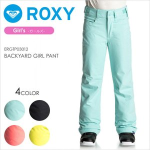 ROXY スノーボードウェア キッズ BACKYARD GIRL PANT 17-18 ERGTP03012 ブラック/ブルー/ピンク/イエロー 130/140/150|3direct