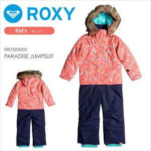 ROXY スノーボードウェア キッズ PARADISE JUMPSUIT 17-18 ERLTS03002 ピンク 100/110/120|3direct