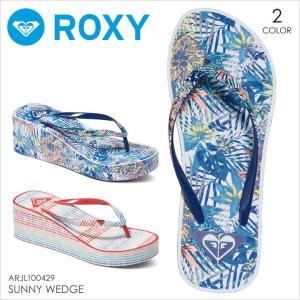 ビーチサンダル レディース ROXY SUNNY WEDGE - ARJL100429 ロキシー ウェッジソール ビーサン 総柄 ビーチ 海 靴 オシャレ かわいい 女性 17 2017 夏 新作|3direct