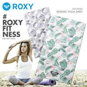ROXY ロキシー ヨガシート レディース BOTANIC YOGA SHEET ROA184305 2018秋冬 ホワイト ワンサイズ|3direct