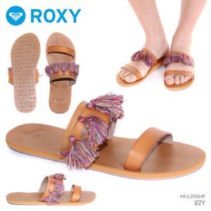 ROXY サンダル レディース IZZY ARJL200649 2018春 ブラウン 23cm/24cm/25cm|3direct