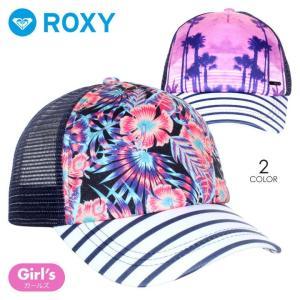 ROXY キャップ キッズ JUST OK 2018春 ERGHA03103 ブラック/ピンク|3direct