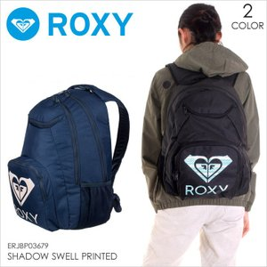 ROXY リュック レディース SHADOW SWELL PRINTED 2018 春 ERJBP03679 17L ブラック/ネイビー|3direct