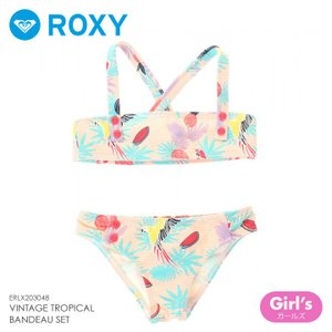 ROXY ビキニ ベビー VINTAGE TROPICAL BANDEAU SET ERLX203048 2018春 イエロー 100cm/110cm/120cm|3direct