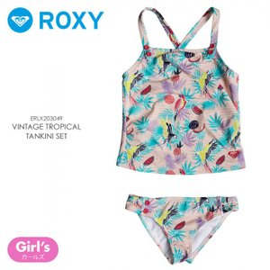ROXY ロキシー ビキニ ベビー VINTAGE TROPICAL TANKINI SET ERLX203049 2018春 ブルー100cm/110cm/120cm|3direct