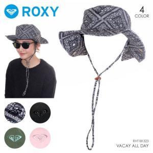 ROXY ハット レディース VACAY ALL DAY 2018春 RHT181323 ブラック/グリーン/ピンク ワンサイズ|3direct
