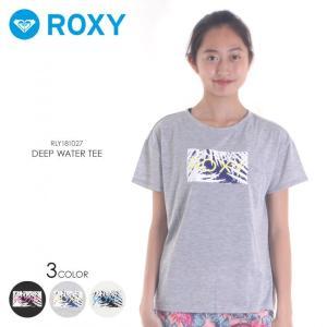 ROXY ラッシュガード レディース DEEP WATER TEE 2018春夏 RLY181027 ブラック/グレー/ホワイト S/M/L|3direct