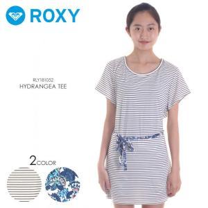 ROXY ラッシュガード レディース HYDRANGEA TEE 2018春夏 RLY181052 ボーダー/花柄 S/M/L|3direct