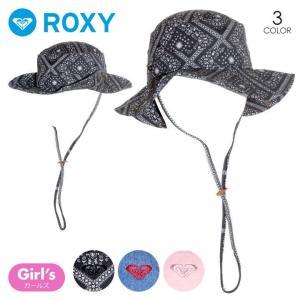 ROXY ハット キッズ MINI VACAY ALL DAY 2018春 THT181431 ブラック/ネイビー/ピンク ワンサイズ|3direct