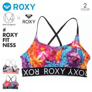 ROXY フィットネスウェア レディース M / mika ninagawa BEACH FITNESS BRA RBR182011 2018夏 ピンク/ブラック S/M/L 3direct