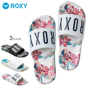 ROXY サンダル レディース SLIPPY PRINTED RSD182310 2018夏 ブラック/ネイビー/ホワイト 23cm/24cm/25cm|3direct