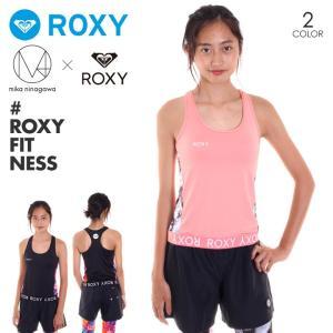 ROXY フィットネスウェア レディース M / mika ninagawa BEACH FITNESS TANK RSL182010 2018夏 ピンク/ブラック S/M/L 3direct