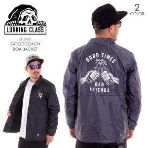 LURKING CLASS ラーキングクラス アウター メンズ GOOD COACHBOA JACKET ST18FJ02 2018秋冬 グレー/ブラック M/L|3direct