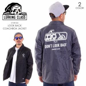 LURKING CLASS ラーキングクラス アウター メンズ LOOK BACK COACHBOA JACKET ST18FJ04 2018秋冬 グレー/ブラック M/L|3direct